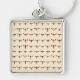 Vintage Clearwing Moths Keychain