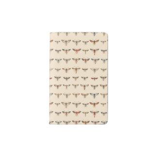 Vintage Clearwing Moths Pocket Moleskine Notebook