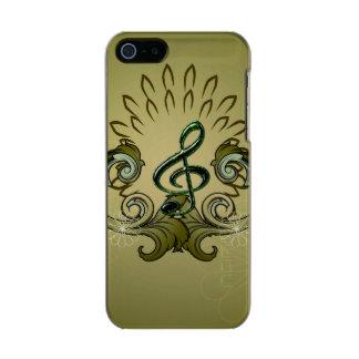 Vintage, clef con damascos funda para iPhone 5 incipio feather shine