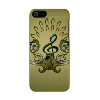 Vintage, clef with damasks metallic phone case for iPhone SE/5/5s