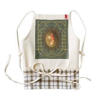 Vintage, clef zazzle HEART apron