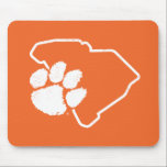 """Vintage Clemson SC Paw Mouse Pad<br><div class=""""desc"""">Check out these new Clemson University designs and products! At Zazzle, you can get all of the best Clemson gear to show off your Tiger Pride. All of these products are customizable with your name, class year, or club. They make perfect gifts for the Clemson student, alumni, family, friend, or...</div>"""