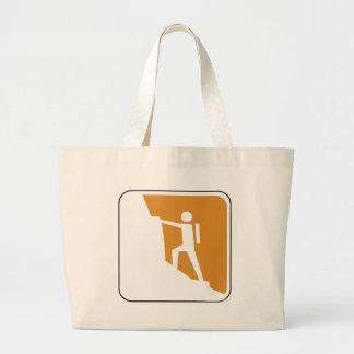 Vintage Climbing Sign Tote Bag