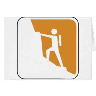 Vintage Climbing Sign Greeting Cards