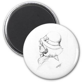Vintage Cloche Hat Magnet