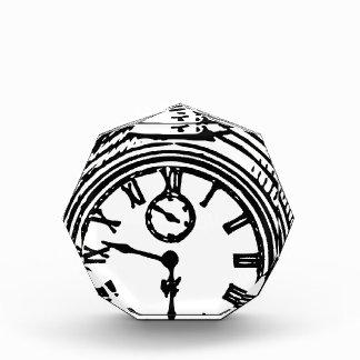 Vintage clock acrylic award