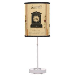 Vintage Clock Advertisement Table Lamp