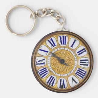 Vintage Clock Antique Pocket Watch Basic Round Button Keychain