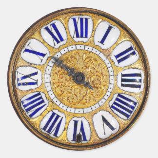 Vintage Clock Antique Pocket Watch Classic Round Sticker