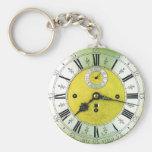 Vintage Clock Antique Pocket Watch Key Chain