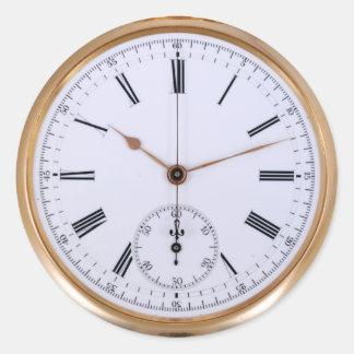 Vintage Clock Antique Watch Classic Round Sticker