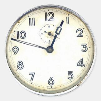 Vintage Clock Classic Round Sticker
