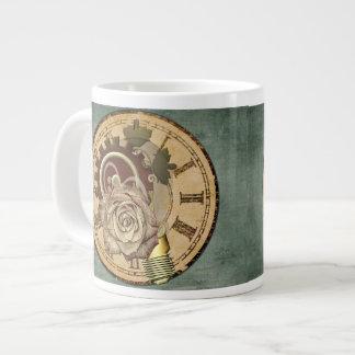 Vintage Clock Collage Giant Coffee Mug
