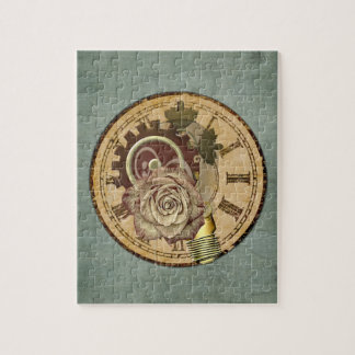 Vintage Clock Collage Jigsaw Puzzle