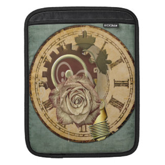 Vintage Clock Collage Sleeve For iPads