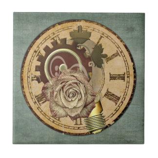 Vintage Clock Collage Tile