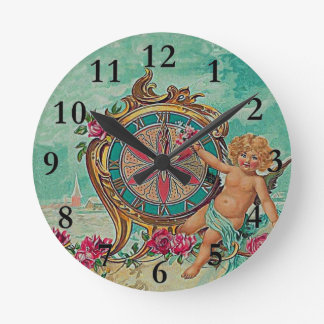 vintage clock face and babe