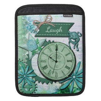 Vintage Clock Face and Gears iPad Sleeve