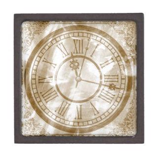 Vintage Clock Keepsake Box