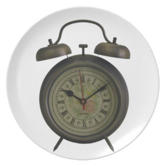 Vintage Clock Melamine Plate