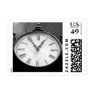 Vintage Clock Postage Stamp