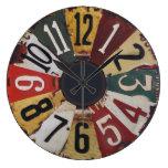 Vintage clock reloj redondo grande