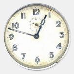 Vintage Clock Round Sticker