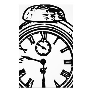 Vintage clock stationery