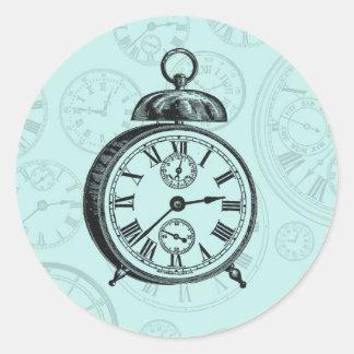Vintage Clock Sticker - Turquoise