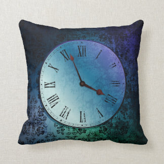 vintage clock throw pillow