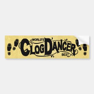 Vintage Clog Dancer Clogging Bumper Sticker