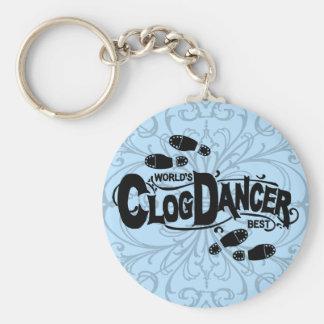 Vintage Clog Dancer Clogging Keychain