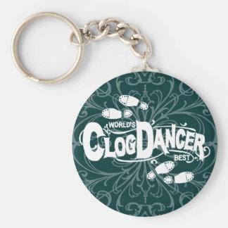Vintage Clog Dancer Clogging Shoes Keychain