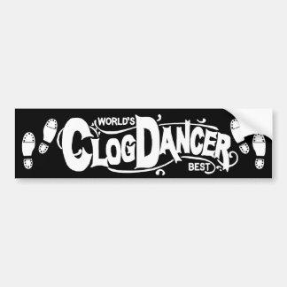Vintage Clog Dancer Clogging White Bumper Sticker