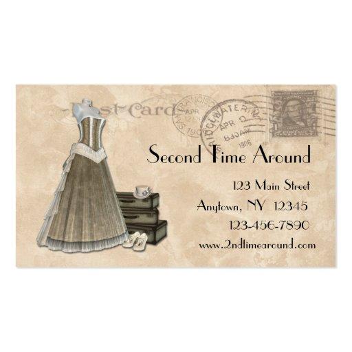 vintage clothing business card zazzle
