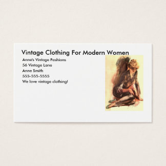 Vintage Clothing For Modern Women, Anne... Business Card