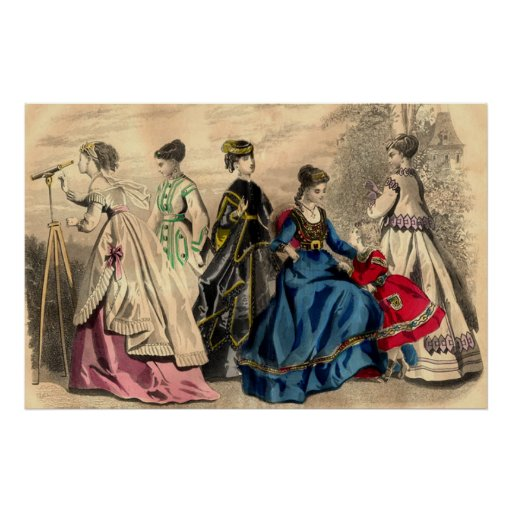vintage clothing in the country poster zazzle