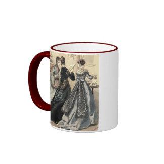 Vintage Clothing - Tea Time Ringer Mug