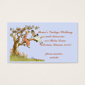 Vintage Clothing, Template with Vintage Children Business Card