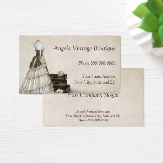 Vintage Clothing Thrift Shop Boutique Business Business Card