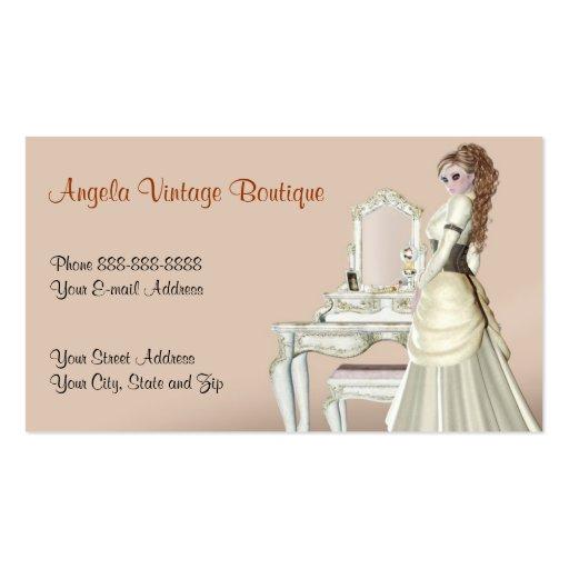 vintage clothing thrift shop boutique business business card zazzle