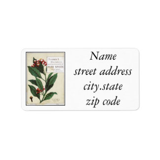 Vintage Cloves Personalized Address Label