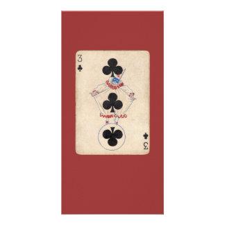 vintage clown card custom photo card