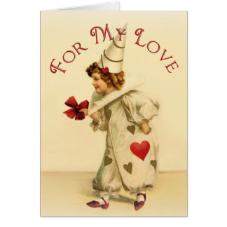 Vintage Clown Valentines Day Card