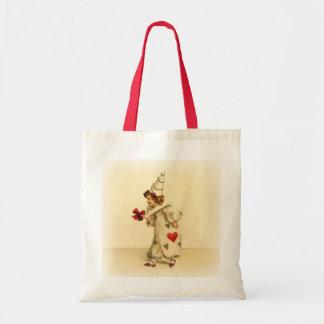Vintage Clown Valentine's Day Tote Bag