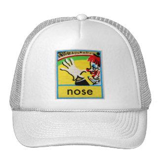 Vintage Clowns Spelling Alphabet N is for Nose Hat