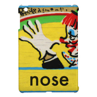 Vintage Clowns Spelling Alphabet N is for Nose iPad Mini Cases