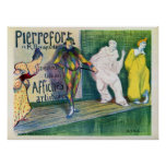 Vintage clowns theme French art gallery ad Print