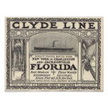Vintage Clyde Line Florida Steamship Ad Posters