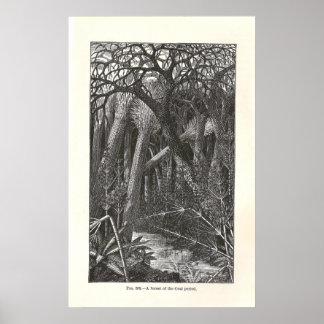 """Vintage """"Coal Forest"""" Poster"""